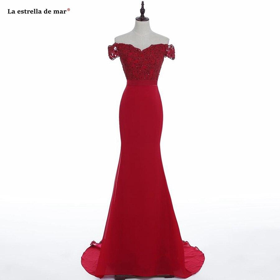 robe demoiselle d'honneur best selling lace satin Boat Neck short sleeve burgundy sexy mermaid   bridesmaid     dresses   long wedding