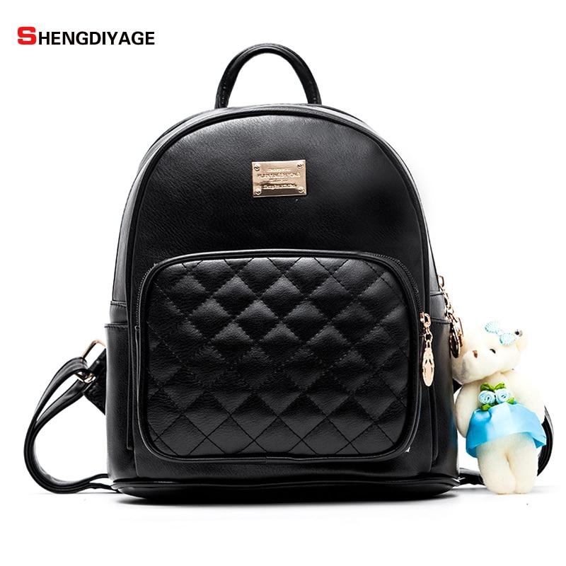 SHENGDIYAGE Women Backpacks Fashion Girl Backpacks Small PU Leather Cute Women Backpack School bag Fashion Lady