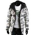 2015 Nueva Llegada Del Otoño Abrigo chaqueta de Camuflaje Militar de Los Hombres, Moda Casual Hombres Chaquetas, hombres Delgados Fit chaqueta