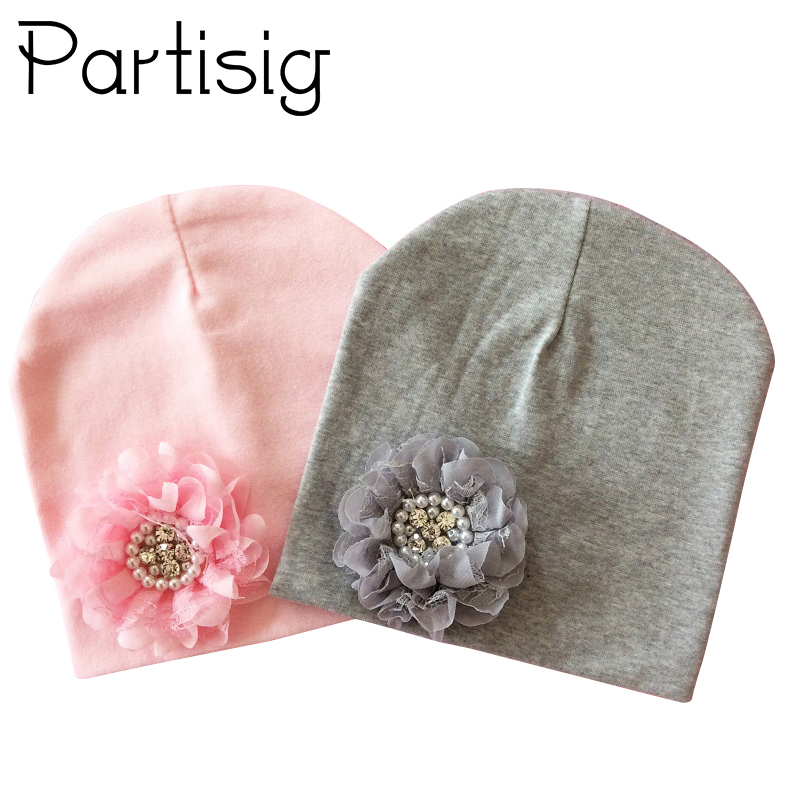 Baby Hat Winter Baby Cap Cotton Floral Hat For Baby Girl Flower Children Cap Kids Accessories new russia fur hat winter boy girl real rex rabbit fur hat children warm kids fur hat women ear bunny fur hat cap