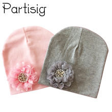 Baby Hat Winter Cap Cotton Floral For Girl Flower Children Kids Accessories