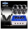 Nova GOTTOMIX AMP-S4 4-Channel Professional Headphone amplificador Headphone Splitter Amp Mono e Stereo Adjustment