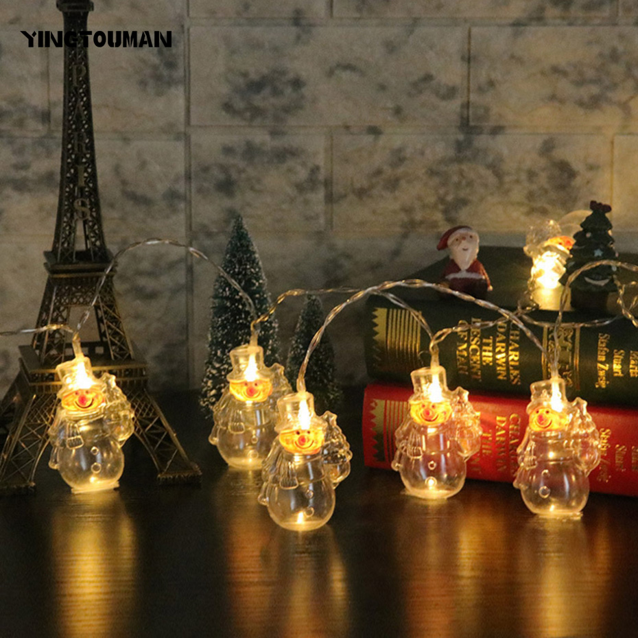 YINGTOUMANT Transparent Santa Type Lamp USB LED String Light Christmas Holiday Wedding Party Decoration Lighting 8m 40LED