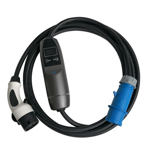 Image 3 - Khons EVSE IEC 62196 Electric Vehicle Portable EV Charger With Blue CEE Plug 32A Adjustable 16ft Cable Charging Connector Type 2