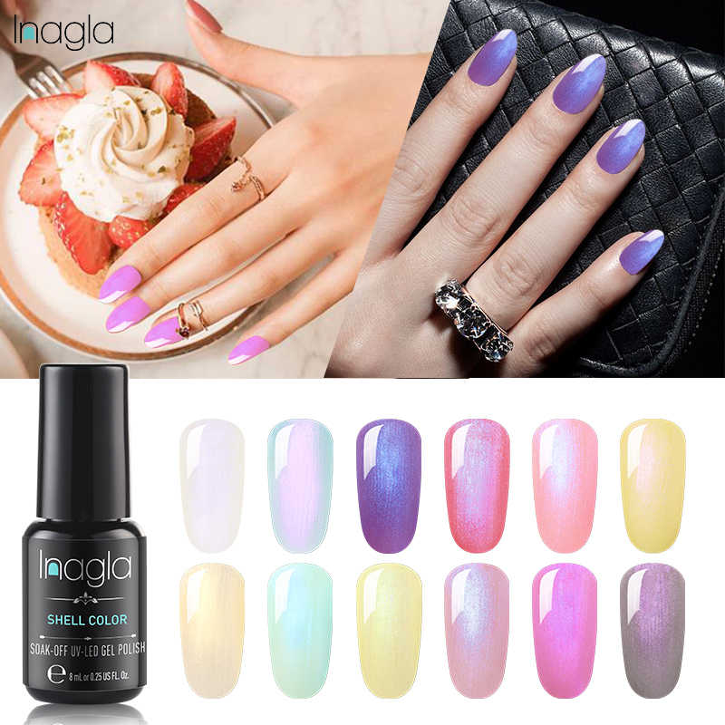 Inagla Kuku Gel Polish Rendam Off UV LED Gel Nail Polish Long Lasting Beauty Salon Seni Kuku Gel Shell gel Varnish Primar