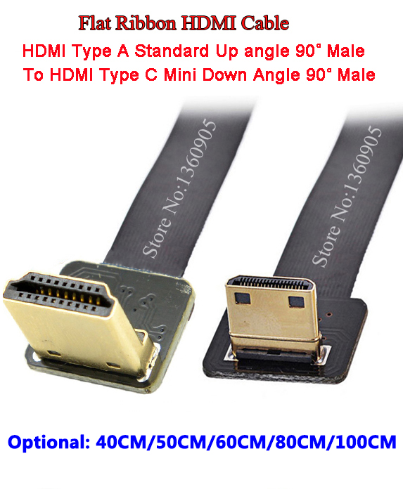 40CM/50CM/60CM/80CM/1M Mini Up Angle Male to Male Standard Down Angle Soft FPV HDMI Cable for 5D3 5D2 GH3 GH2 5N 5T 5R 7N DJI 80 channels hdmi to dvb t modulator hdmi extender over coaxial
