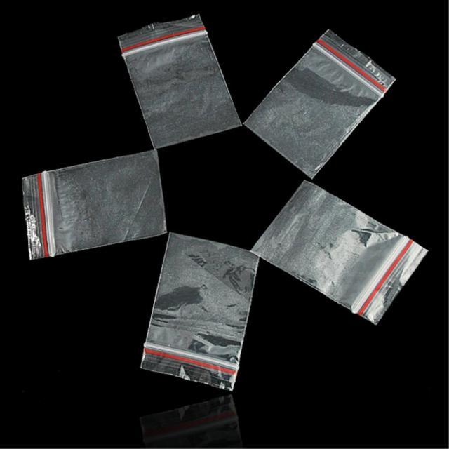 WITUSE 100 cái/gói 9 Kích Cỡ Mini Zip khóa Baggies Nhựa Bao Bì Túi Nhựa nhỏ dây kéo túi ziplock Đóng Gói Lưu Trữ Túi