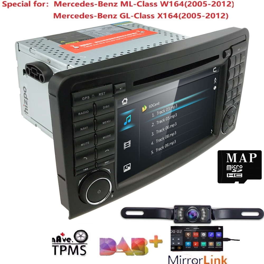 7 inch 2 din WINCE Car DVD Player For Mercedes Benz ML Class W164/GL Class X164 2005 2012 GPS navigation Radio CANBUS SWC MAP 3G