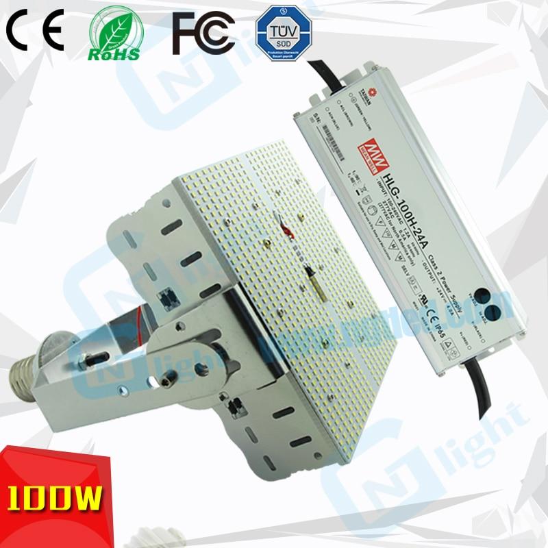 100W LED Shoe Box Retrofit Kits Replace 400W Metal Halide
