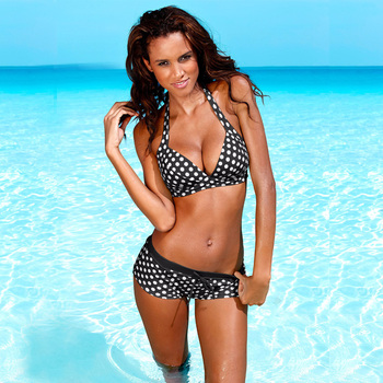 Swimsuit Retro Push Up Bikini Set 1