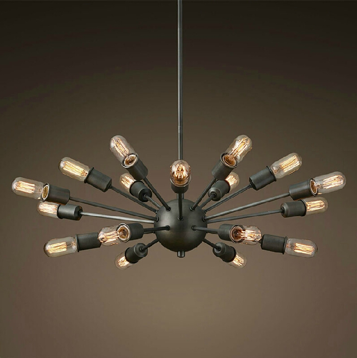 A1 The simplicity of modern American country iron bar designer Nordic loft retro UFO spider chandelier industrial wind the custom of the country
