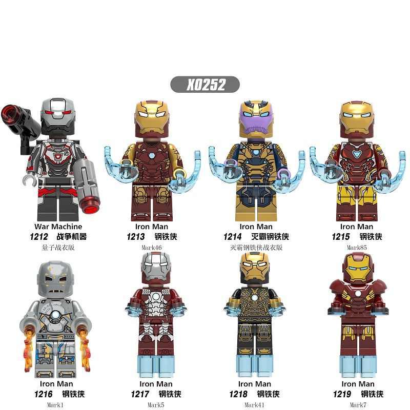 מכירה אחת סרט נוקמי 4 Ironman MK46 מלחמת מכונה פעולה דמויות legoingly בניין בלוקים לבני דגם X1213
