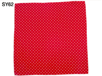 Fashion Men Pocket Square 100 Silk Red White Dot Print Handkerchief Gift For Wedding Party Business