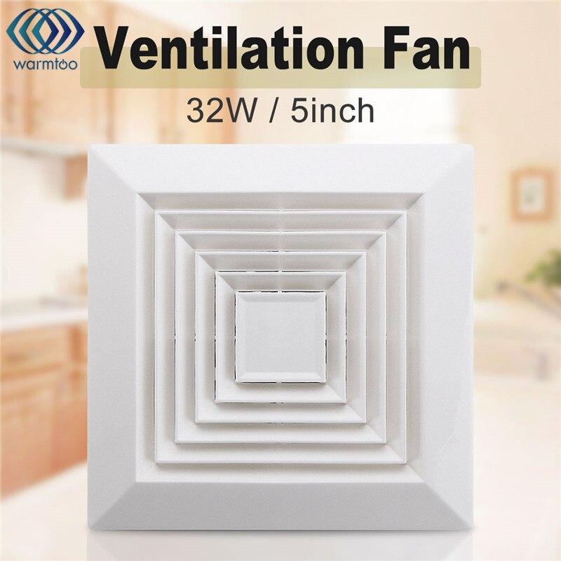 White 32W 220V Ventilation Extractor Exhaust Fan Blower Window Wall Kitchen Bathroom Toilet Fan Hole Size 160x160mm bpt10 22 h25 ventilator fan bathroom window exhaust fan toilet bathroom wall silent exhaust fan 220v 18w panel size 300 300mm