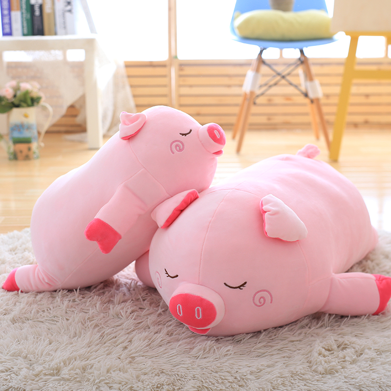 40cm 60cm 80cm Size Pink Pig Plush Toy Cute Pig Soft Stuffed Doll Pig Pillow Gift For Lovers Christmas Gift Wholesale Retails ins hot swan soft toy cute ballerina moon cushion pink home sofa decoration pillow baby appease music doll kidstoy gift for girl