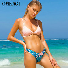 OMKAGI Brand Swimwear Women Swimsuit Sexy Push Up Micro Bikinis Set Swimming Bathing Suit Beachwear Summer Brazilian Bikini 2019