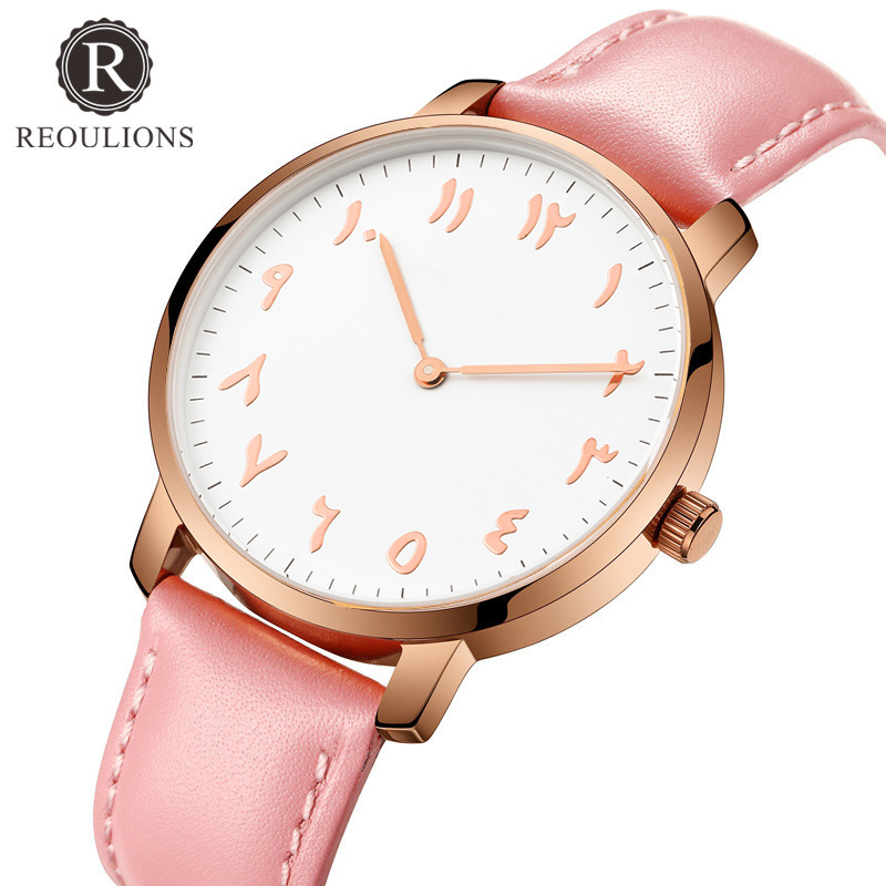 REOULIONS Mode Arabiska Numbers Kvinnor Watch Ladies Quartz Watch Lyx - Damklockor - Foto 2