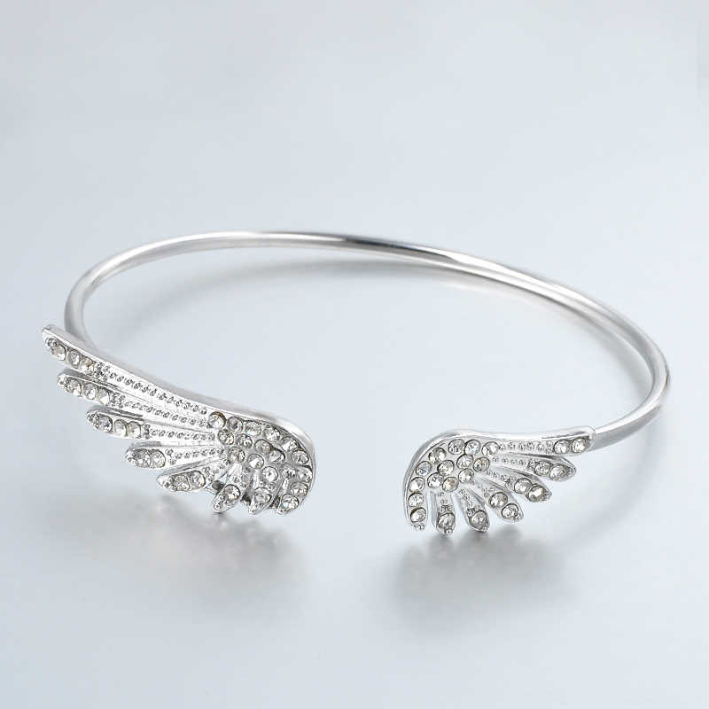 Korean Version Of The Fine Jewelry Angel Wing Adjustable Chic Cute Bracelet Girl Girl Charm Bangles For Women Wholesale