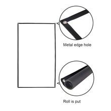 72 pouce 16:9 Portable Blanc Projecteur Écran Tissu Matériau Plié Écran Haute-définition De Projection Rideau Vente Chaude