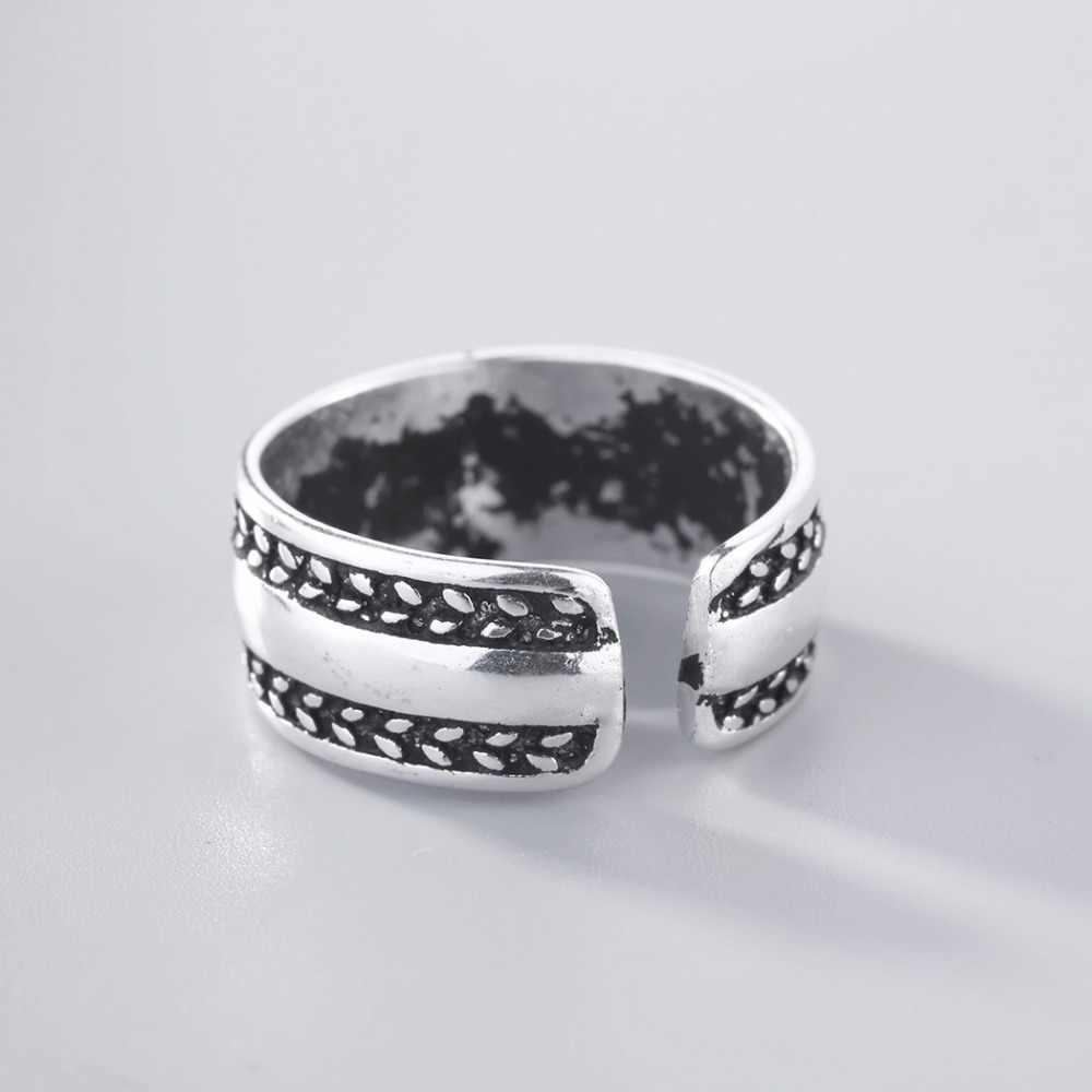 CHENGXUN Viking, кольцо унисекс с широким боком, кольцо с узлом, кольцо с открытым пальцем, готическое байкерское мужское ювелирное изделие, модное кольцо в стиле панк, вечерние, подарок
