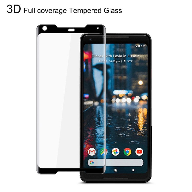 Esobest curved 3D Full coverage glass film for Google Pixel 2 XL screen protector 9H tempered glass saver Phone Screen Protectors     - title=