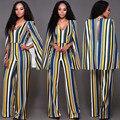 2 cores moda feminina one pieces romper sexy V-neck voltar oco out macacão cozinhar ponchos elegantes macacões slim fit AT113