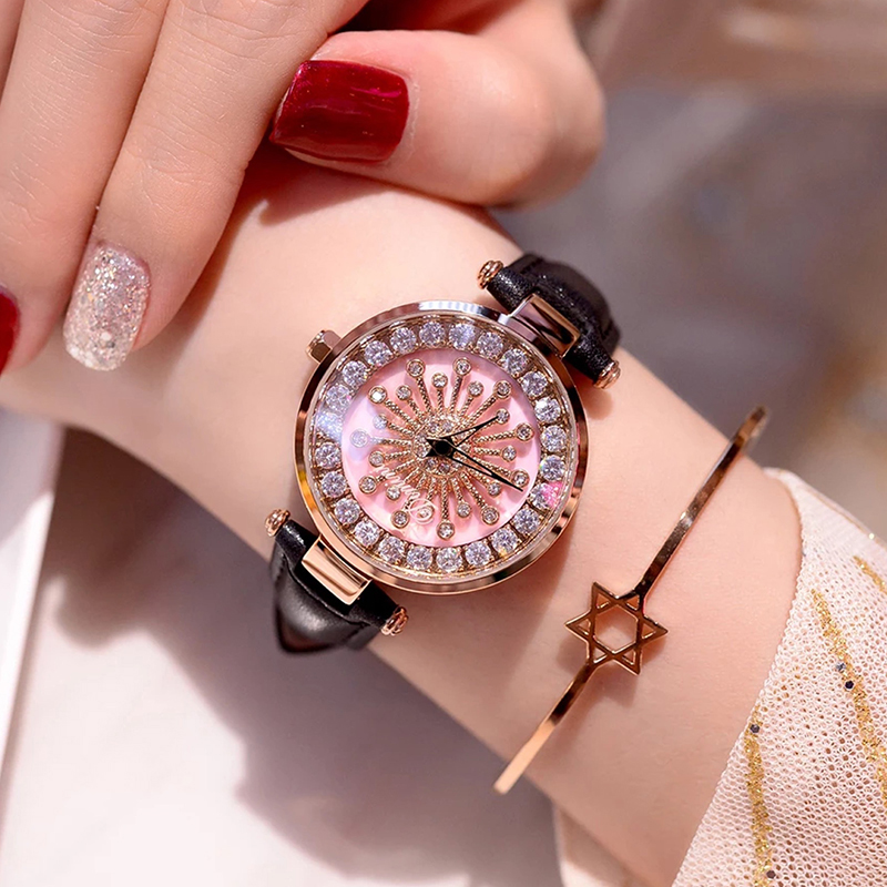 New Women Watches Luxury Brand Genuine Leather Dress Wrist Watches Fashion Ladies Casual Quartz Watch 2018 relojes de mujer original vintage style водолазки