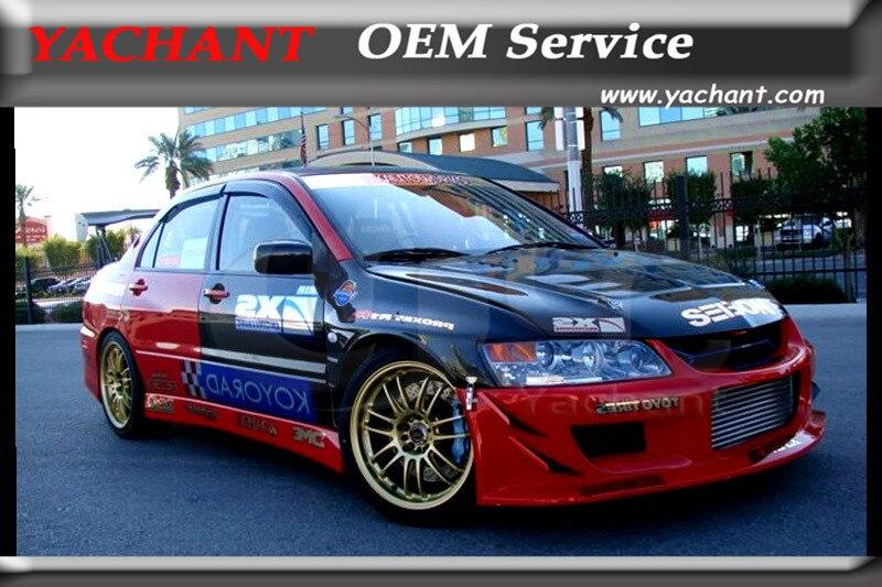 Автомобильный Стайлинг переднее крыло из углеродного волокна подходит для 2001 2007 Mitsubishi Lancer Evolution EVO 7 9 Z скоростной стиль + Переднее Крыло 10 мм