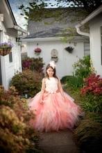 Детская одежда Лето Симпатичные Платья для девочек Слинг стиль рукавов Пачка платье Принцессы + оголовье Пользовательские Малышей девушка одежда