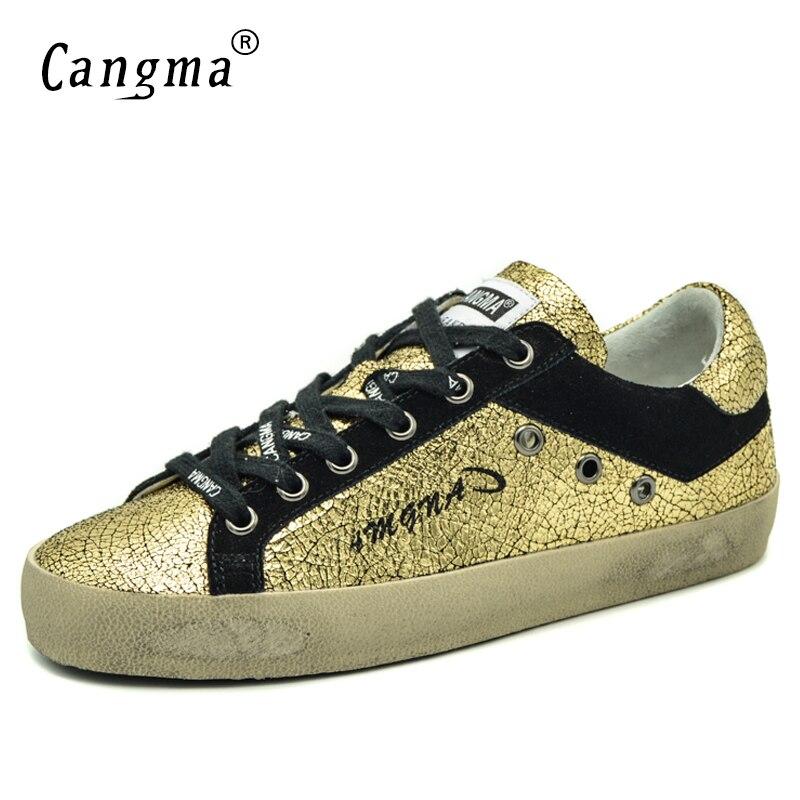 Casual Italien Main Sneakers Designer En Retro D'or Vintage Y6gvbyf7