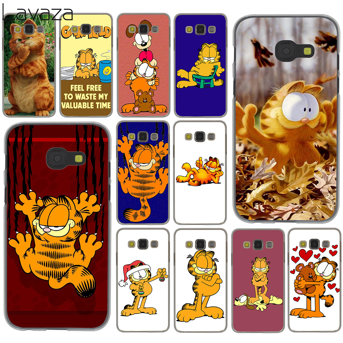 Lavaza cute lovely մուլտֆիլմ garfield Case for Samsung Galaxy Note 10 9 8 A9 A8 A7 A6 Plus 2018 A5 A3 2015 2016 2017 A2 Cover