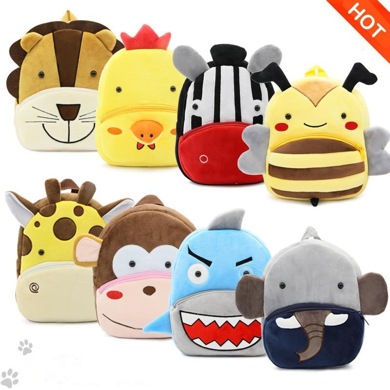 Kids 3D Animal Backpacks Baby Girls Boys Toddler Schoolbag Children Cartoon Lion Bee Bookbag Kindergarten Toys Gifts School Bags(China)