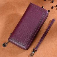2019 New hot top quality wallet 100% genuine leather first layer cowhide wallet clutch bag mobile phone bag leather multi car