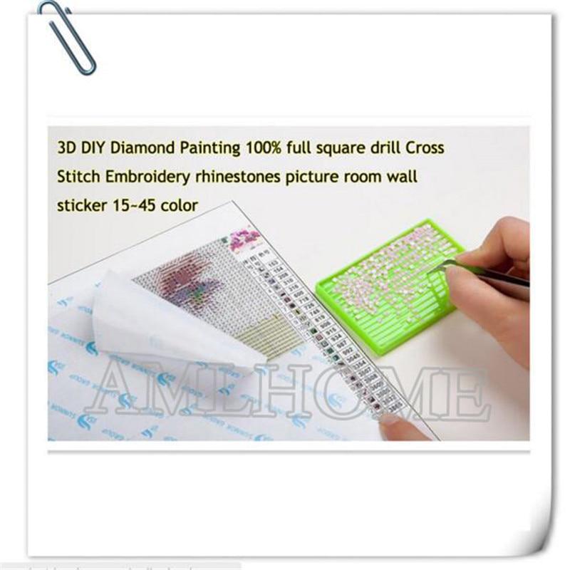 Diy Diamond Painting Cross Stitch Garden Iron Gates Full Square Diamond Embroidery Needlework Mosaic Kit Diamond Home Decor CC