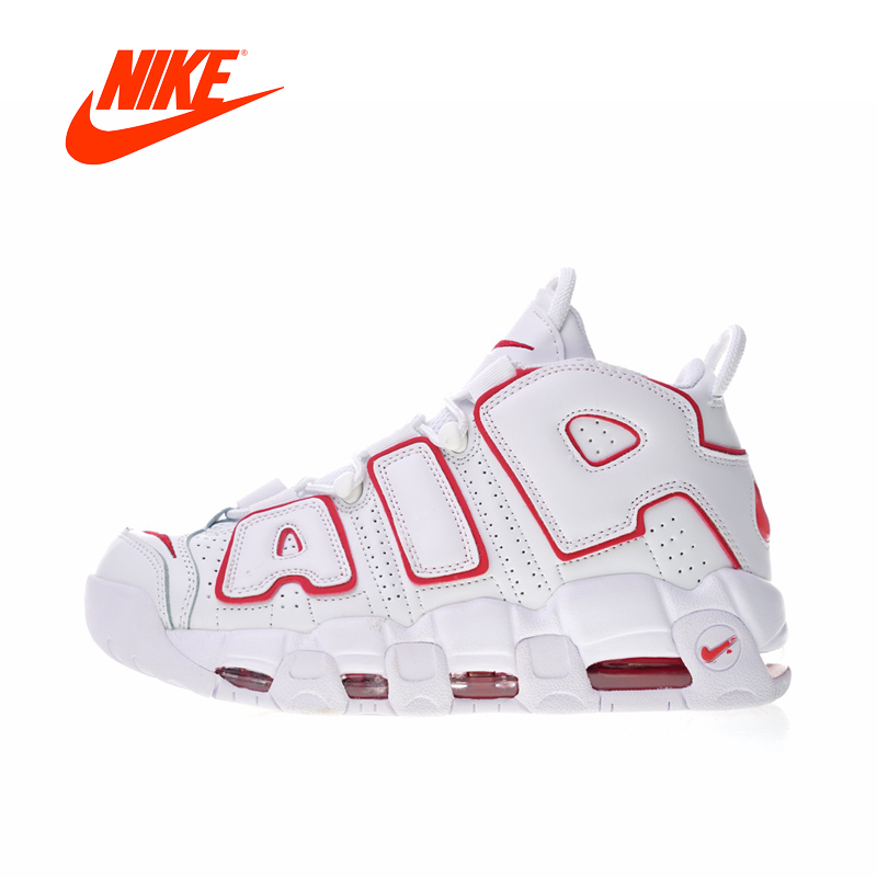 все цены на Original New Arrival Authentic Nike Air More Uptempo Men's Basketball Shoes Sport Outdoor Sneakers Good Quality 921948-102