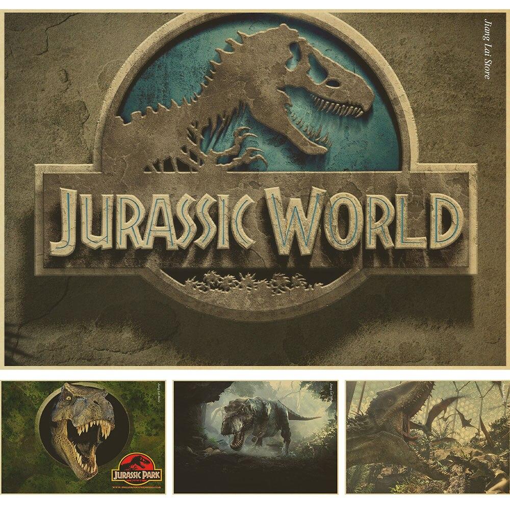 Jurassic Parque Dinossauro Mundo Filme Retro Cartaz Decoracao Para