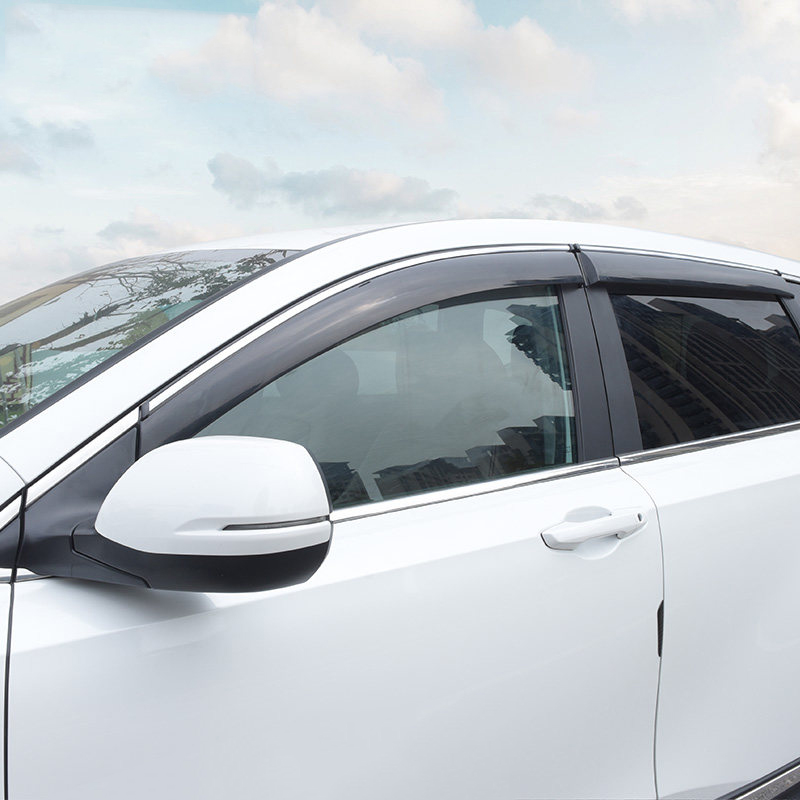 Window Sun Visor For Honda CRV 2012 2013 2014 Window Rain Vent Deflector Shield Awnings Cover