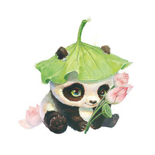 5D DIY diamond painting cartoon animal cute panda full drill square round embroidery cross stitch mosaic picture gift