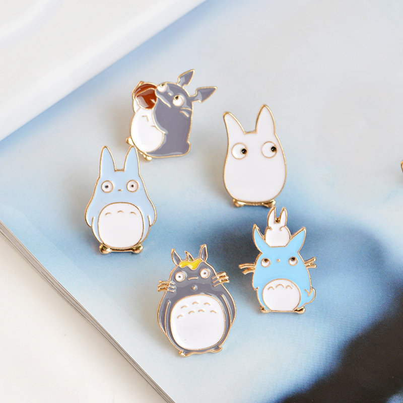 5pcs/set Japan Anime TOTORO Enamel Pins and Brooches Childrens Clothing Badge Corsage My Neighbor Totoro Jewelry 6