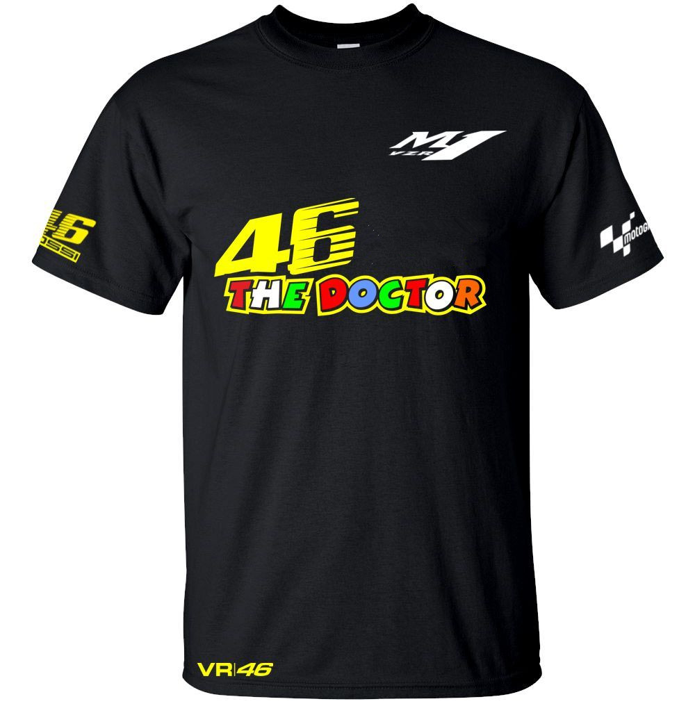 Free shipping 2017 New Valentino Rossi VR46 QUICK DRY Shirt The Doctor MotoGP 46 Sports T-Shirt VR46 Racing