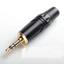 High Quality 1000pcs / lot 3.5mm stereo 1/8  audio Plug with 6mm Plastic tail hole