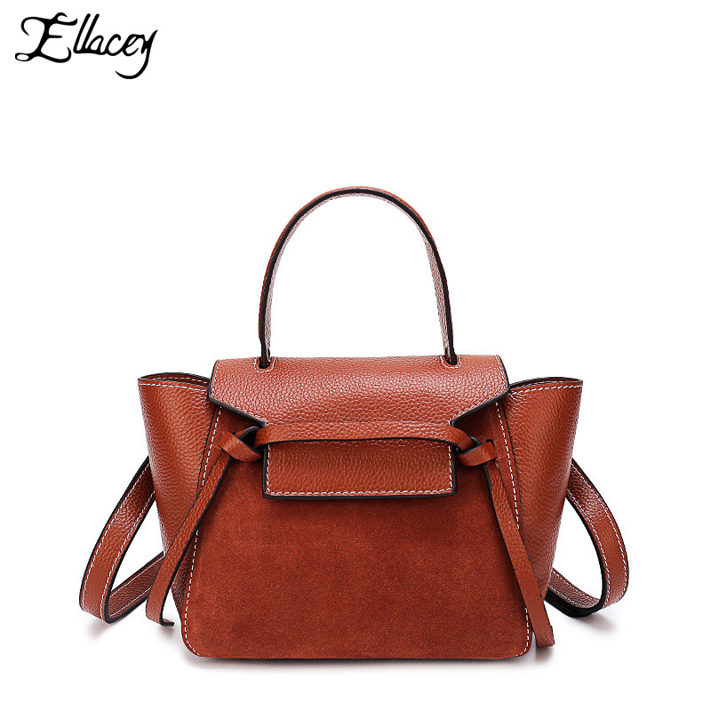 New 2018 Famous Brand Women's Trapeze Handbags High Quality Cow Leather Shoulder Bag Female Luxury Designer Women Crossbody Bags the new high quality imported green cowboy training cow matador thrilling backdrop of competitive entrance papeles