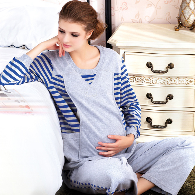 Sale  Sports paragraph knitted maternity nursing loading lounge maternity clothing  FREE SHIPPING