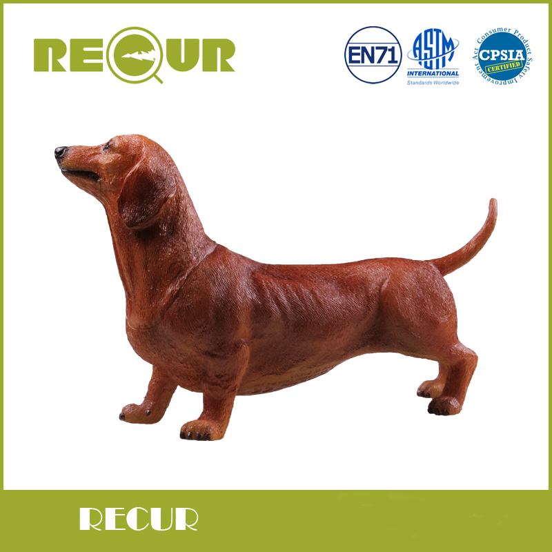 Recur Farm Animals Dachshund Puppy Dog Figures Model High Simulated PVC Hand Painted Soft Toy Christmas Gift Collection For Kids lps toy bag 25pcs pet shop animals cats puppy kids boy and girl action figures pvc lps toy birthday christmas gift 4 5cm