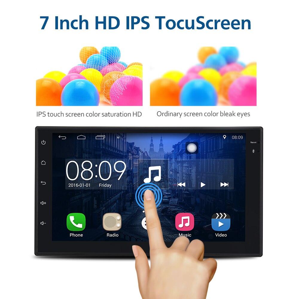 Autoradio Android 6.0 7 pouces 2din voiture Audio 1024x600 GPS Navigation Bluetooth USB 2 din universel pour autoradio lecteur VW ToyotaAutoradio Android 6.0 7 pouces 2din voiture Audio 1024x600 GPS Navigation Bluetooth USB 2 din universel pour autoradio lecteur VW Toyota