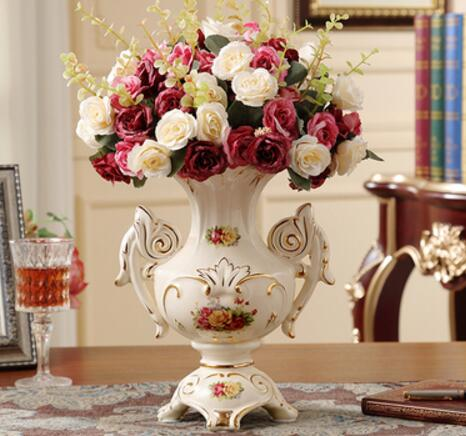 Luxurious Living Room Decoration Flower Vase Ceramic Vase Home