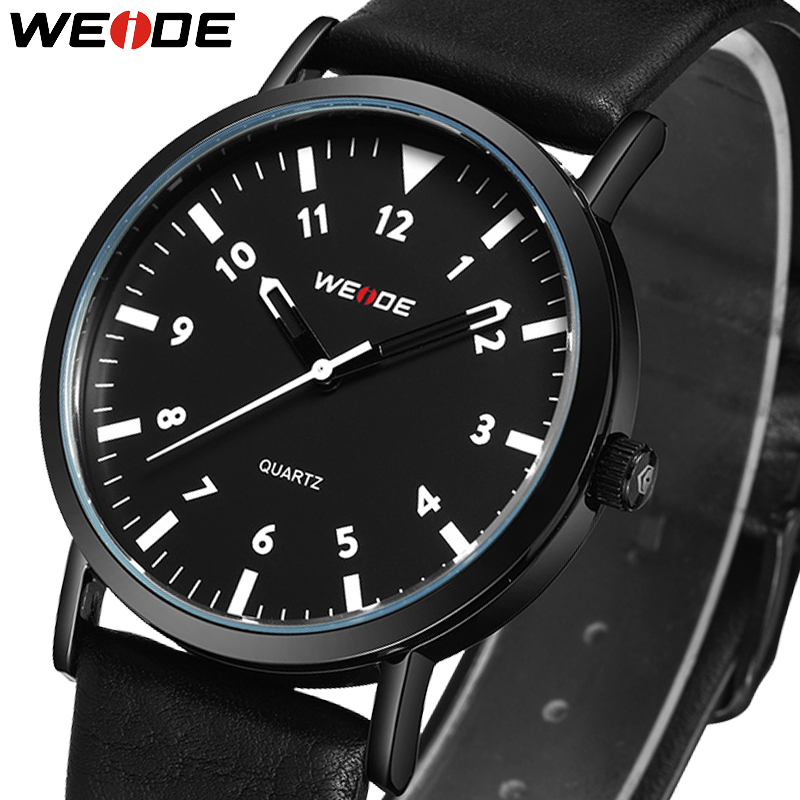 WEIDE 2018 New Luxury Simple Fashion Leather Watch Man Quartz Analog Wrist Watch Relogio Uomo Hot Sales Sports Mens Watches