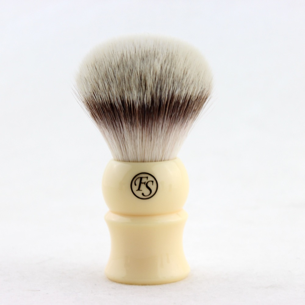 FS-28MM G4 Synthetic Fiber Shaving Brush Cream Color Handle+FREE STAND+FREE SHIPPING