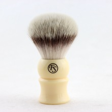 FS 24MM G4 Synthetic Fiber Shaving Brush Cream Color/Black Color Handle+FREE STYPTIC PENCIL+FREE SHIPPING