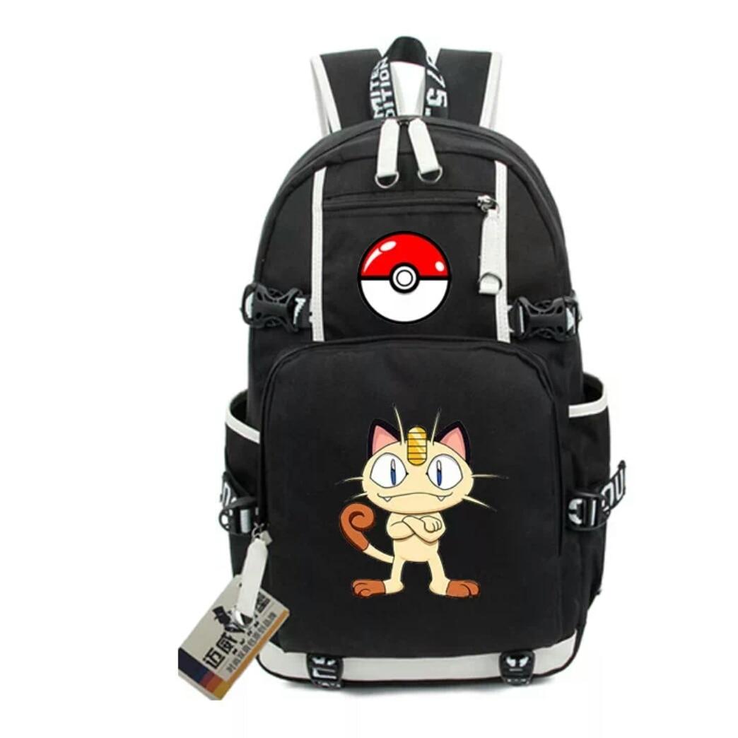Pokemon Rocket Backpack Canvas Backpack Travel Bag Gengar Cosplay And Shoulder Bag Teenage Girl Backpacks